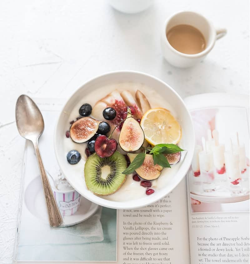 breakfast bowl with fruit