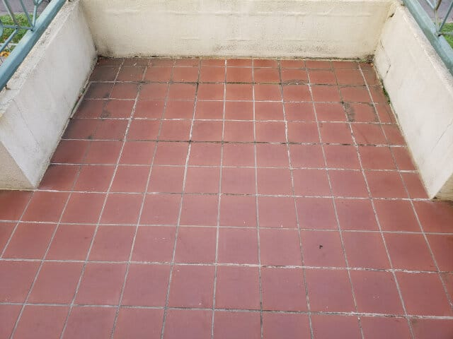 balcony terracotta epoxy grouting sealing before