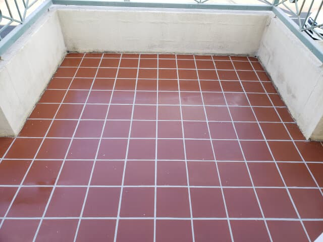 balcony terracotta epoxy grouting sealing after dry
