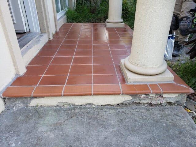 minor tile repair after