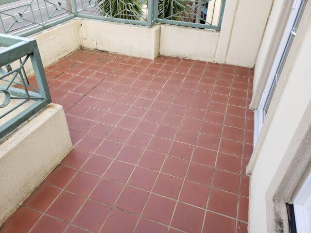 balcony terracotta epoxy grouting sealing
