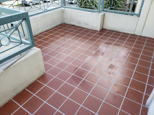 balcony terracotta epoxy grouting sealing after