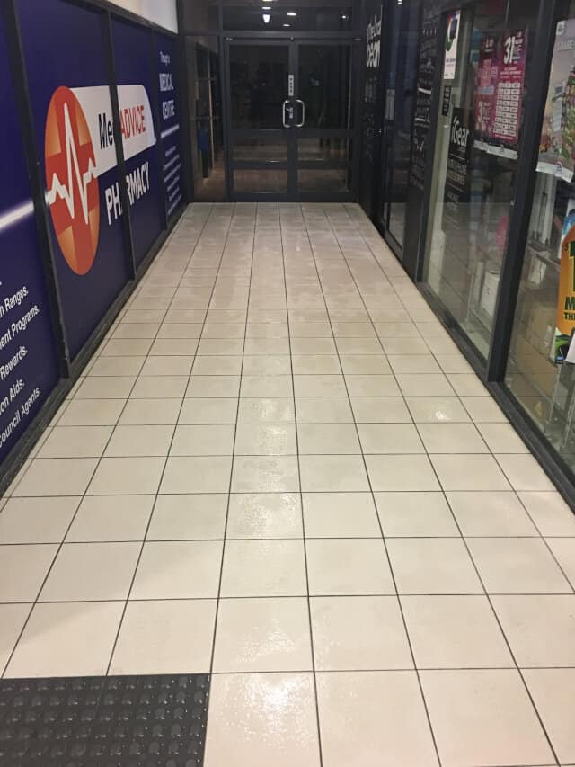 commercial tile and grout cleaning - after