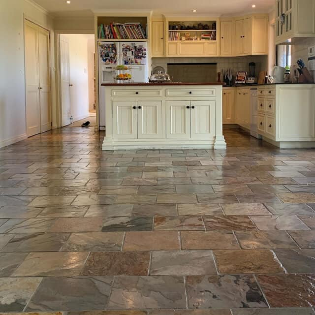 kitchen strip and seal slate after