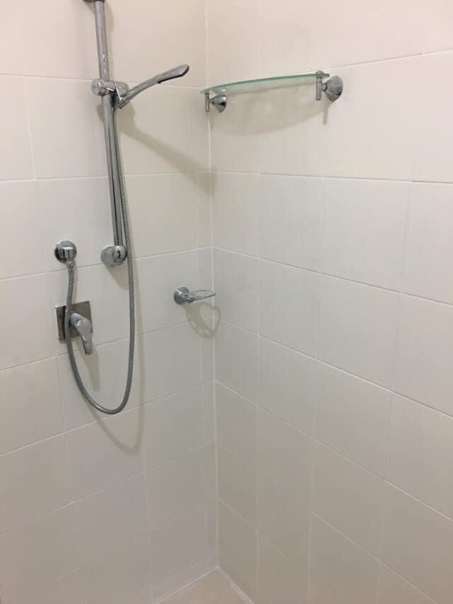 porcelain shower regrouting after