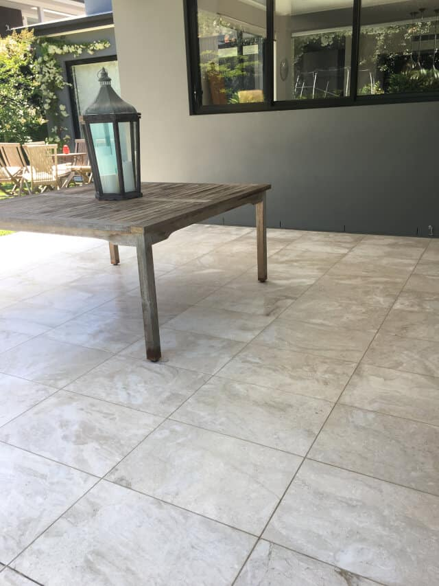 outdoor tumbled marble clean and slea after