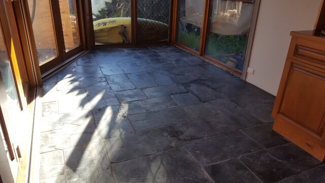 slate tile clean and seal before