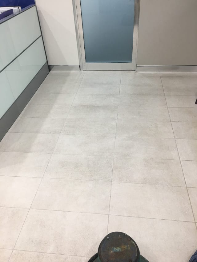 before grout tiles clean kitchen limestone