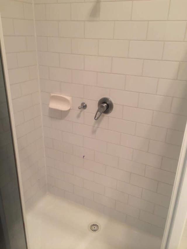 after shower clean regrout porcelain