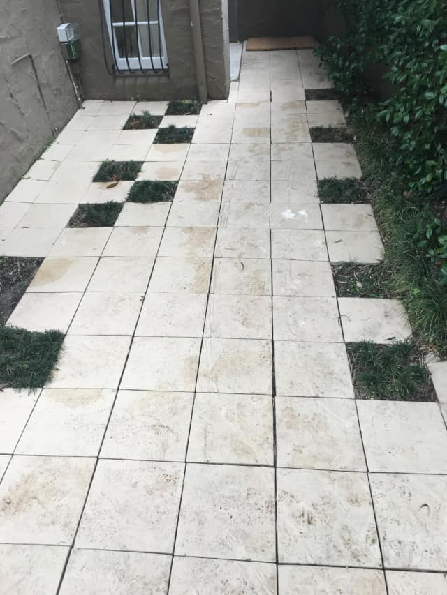 before path outdoors pavers clean cement concrete