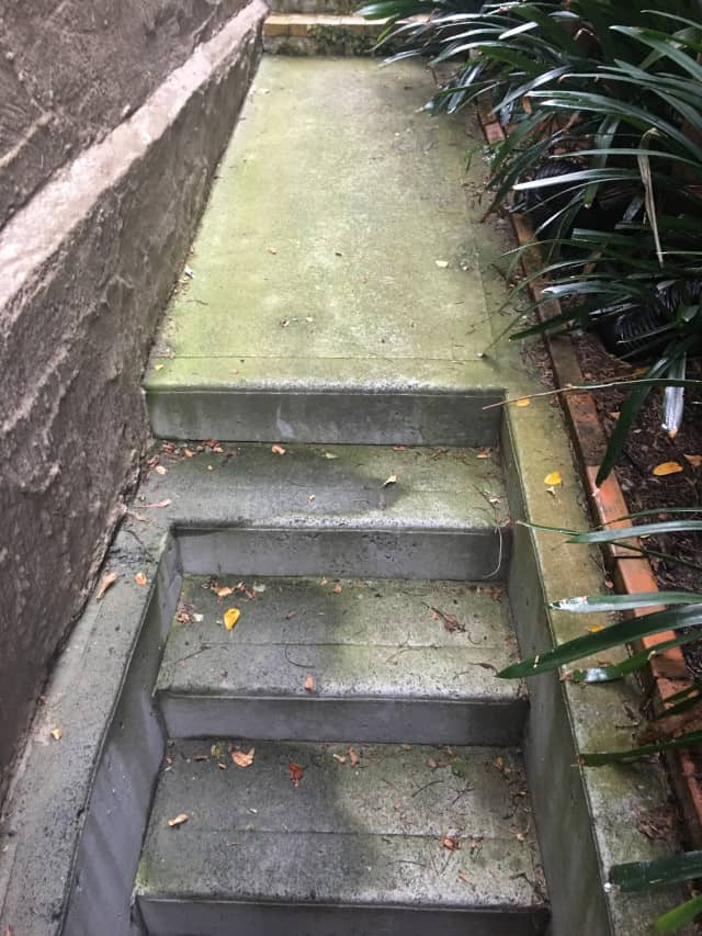 before concrete moss stairs outdoors clean