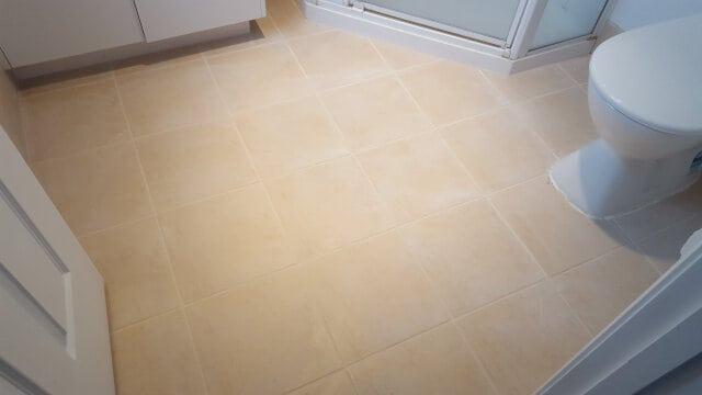 bathroom floor regrout after