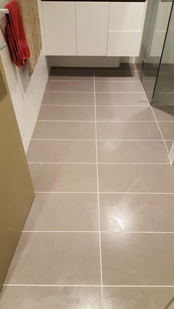 bathroom floor regrout porcelain after