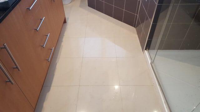 bathroom floor porcelain regrouting before
