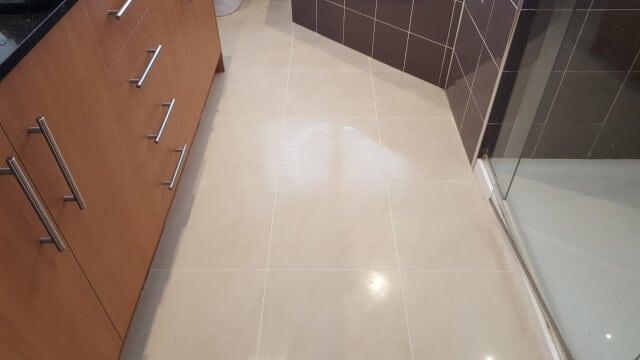 bathroom floor porcelain regrouting after