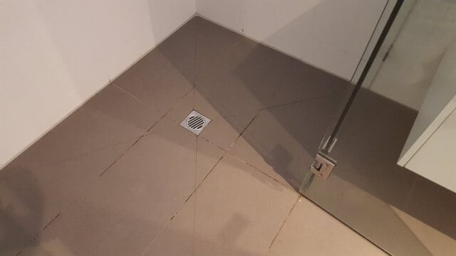 shower recess regrout before