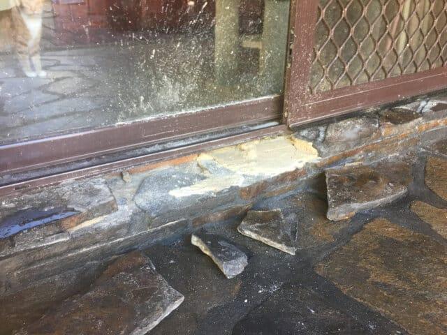 before slate tile repair