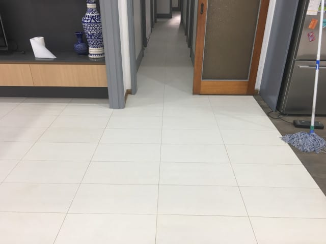 hall_tile and grout cleaning after