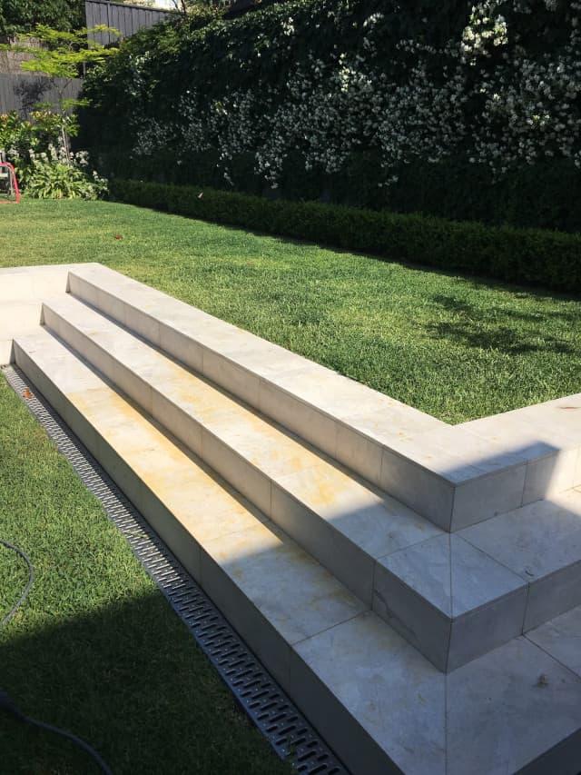 before sandsstone stairs outdoors clean