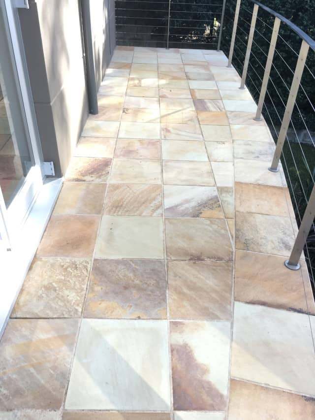 after balcony sandstone clean