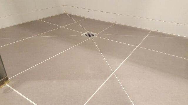 shower base regrout porcelain after