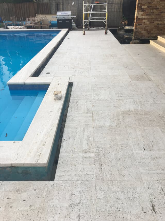 after clean seal travertine