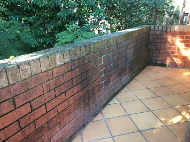 before balcony teracotta clean and seal brick