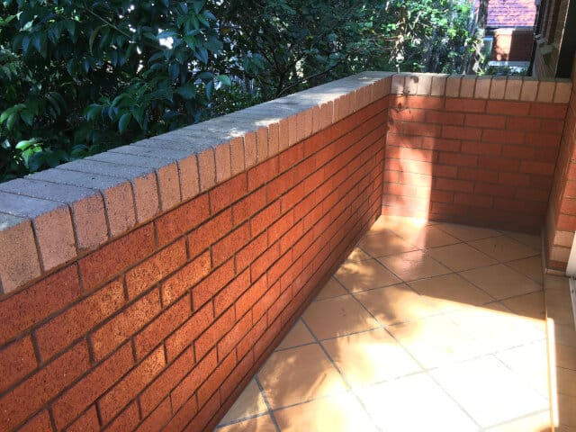 after balcony teracotta clean and seal brick