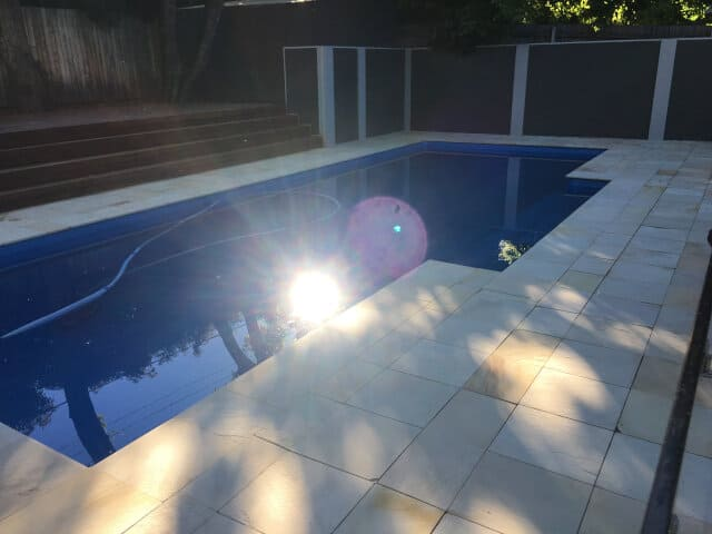 after pool outdoor sandstone clean