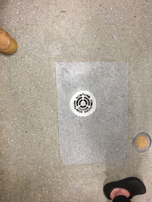 after vinyl tile repair commercial kitchen