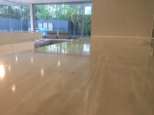 marble benchtop polish after