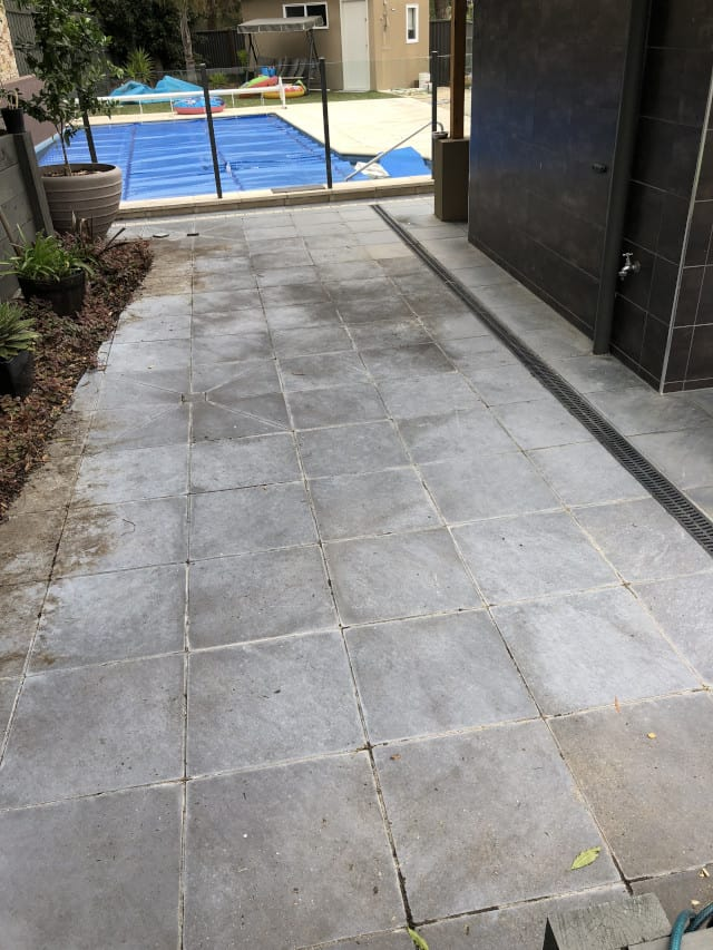 before paver clean outdoor mould removal