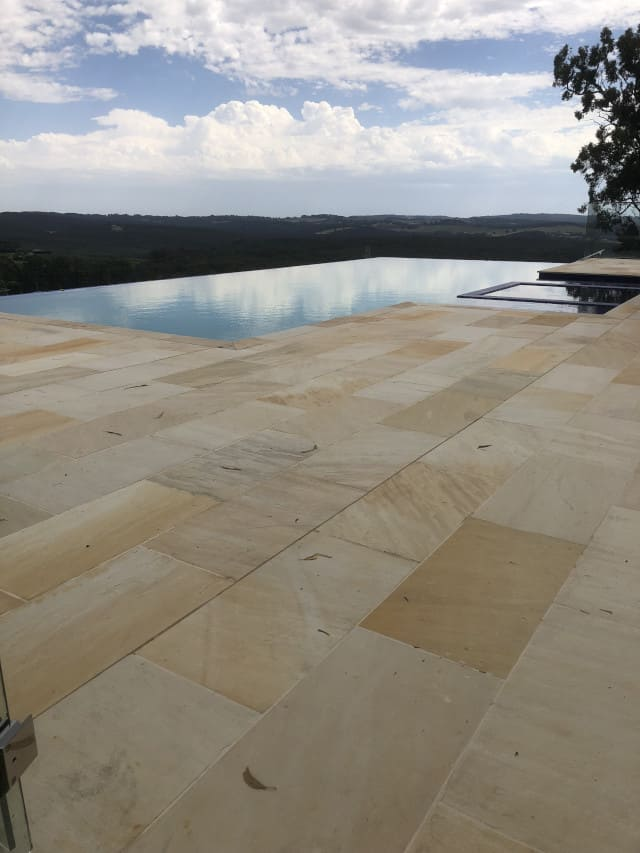 after sandstone clean outdoor mould removal