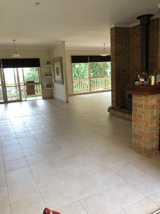 after ceramic clean indoor tile grout