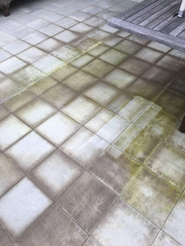before ceramic efflorescence water damage
