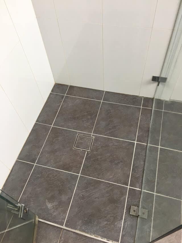 after shower base regrout ceramic