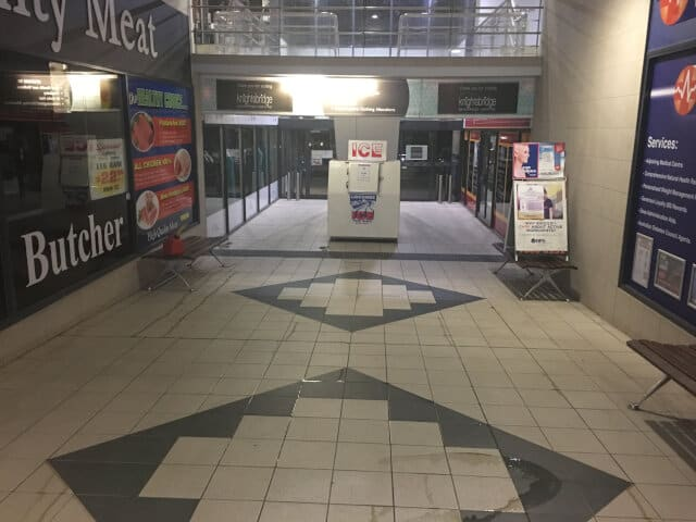 before shopping centre commercial business ceramic clean