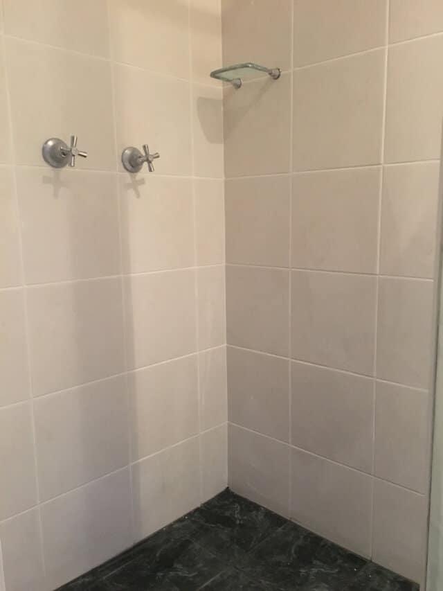 after shower regrout porcelain