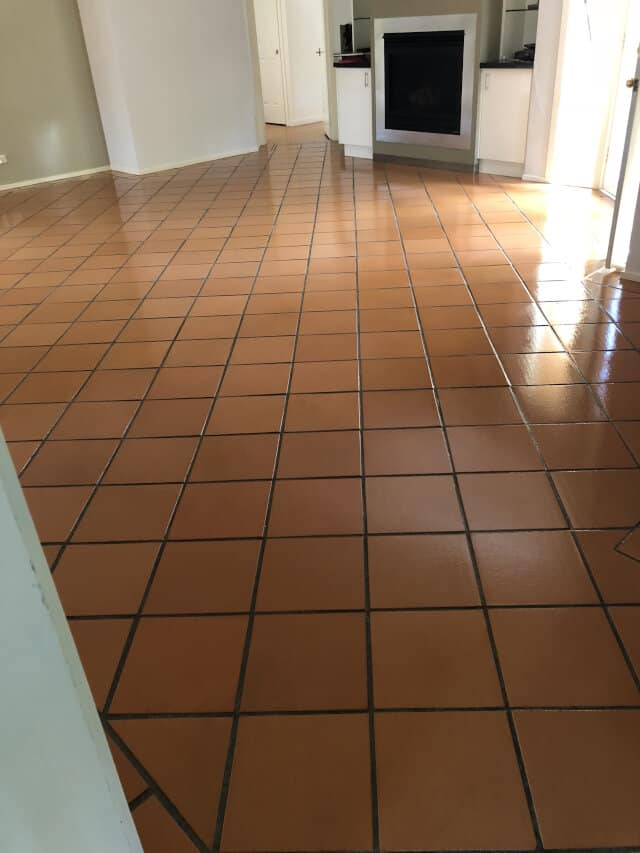 after strip and seal terracotta high gloss
