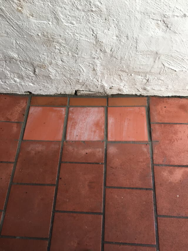after tile replacement terracotta outdoor