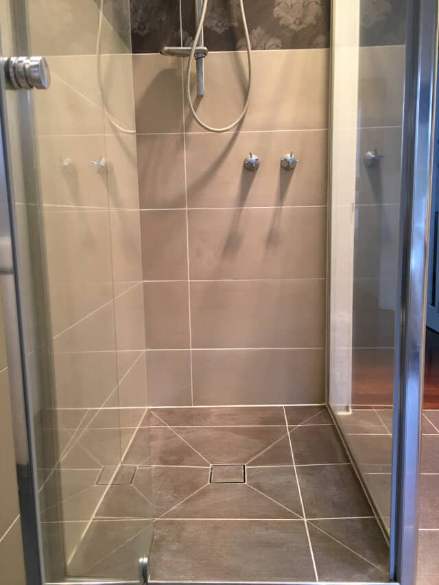 shower regrout after