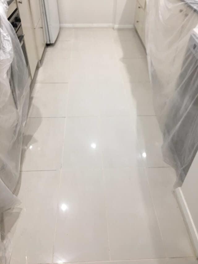 after tile replacement porcelain kitchen underfloor heating