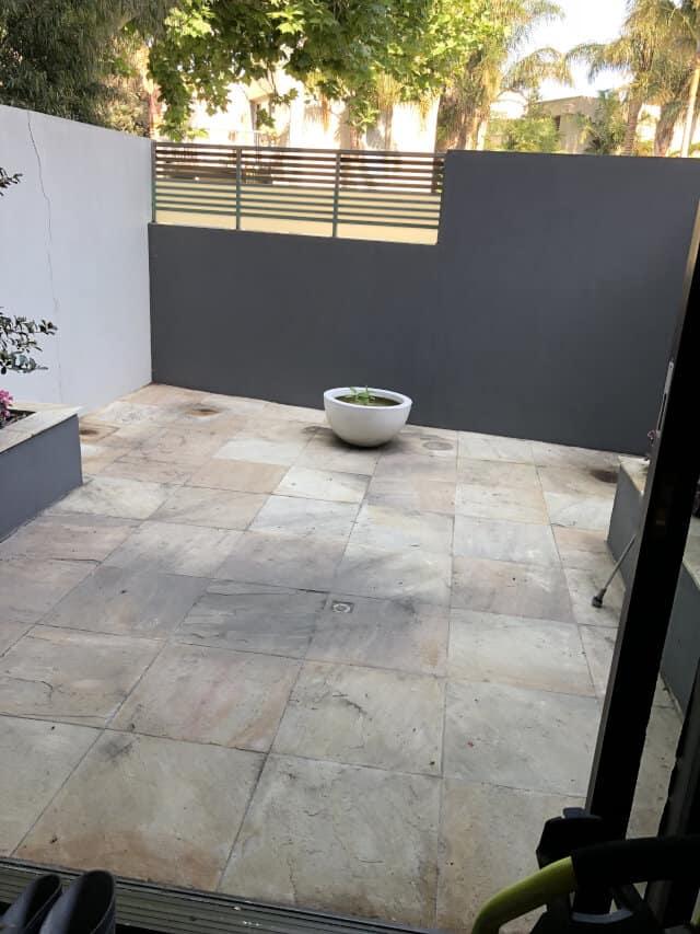 before sandstone clean seal patio transparent penetrating sealer