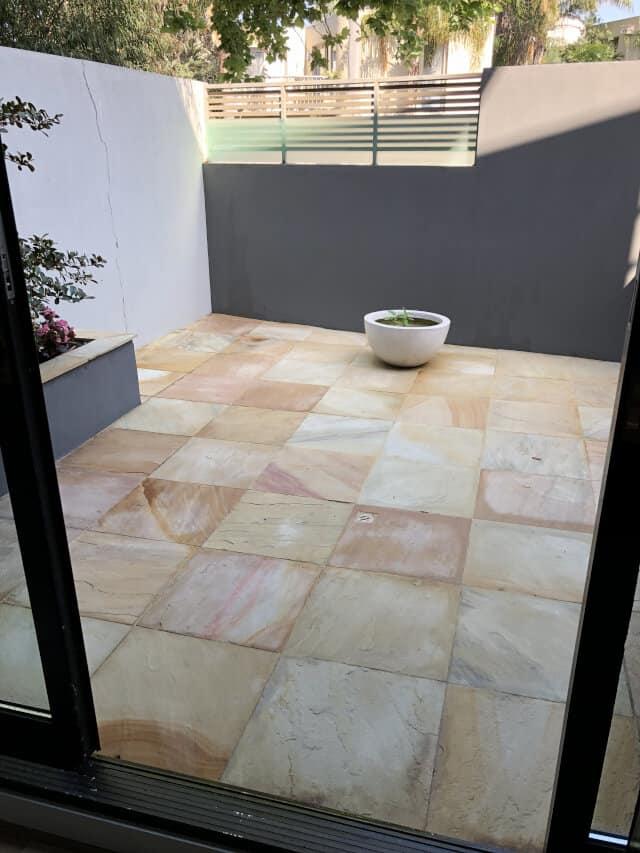 after sandstone clean seal patio transparent penetrating sealer