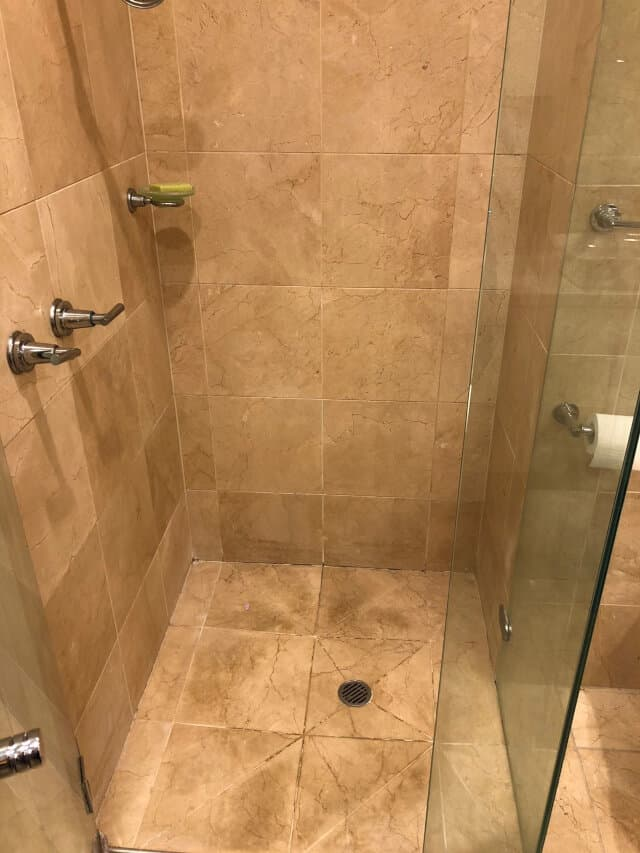before shower regrout marble seal polish