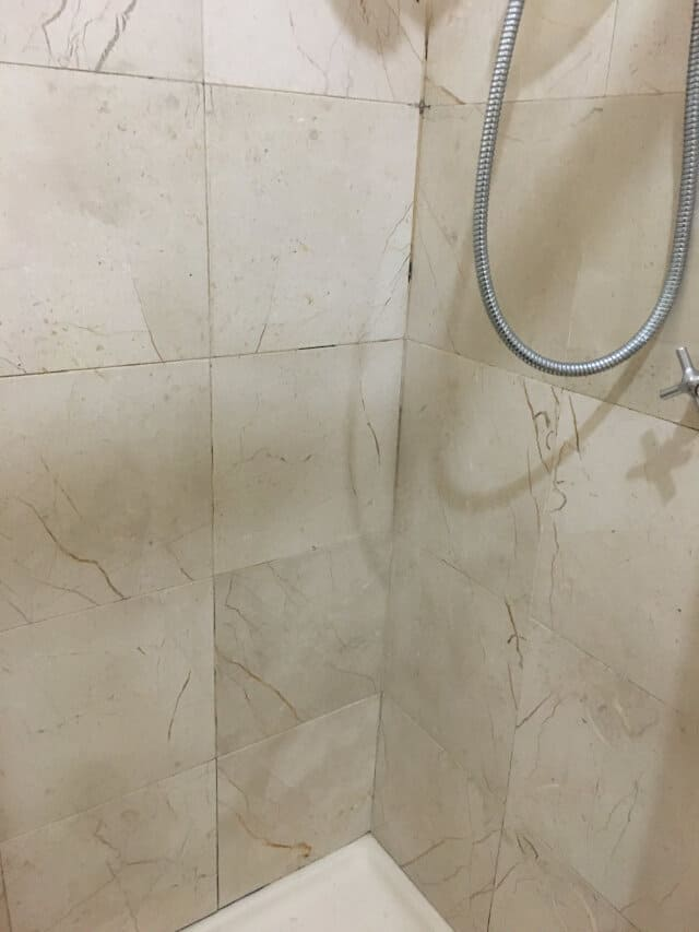 shower regrout before
