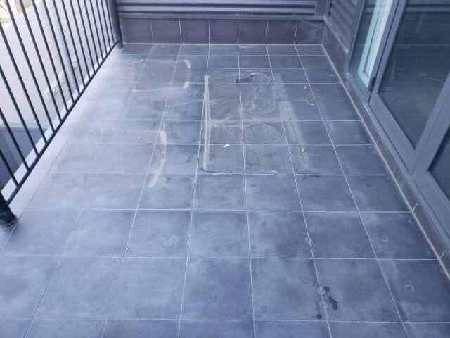 epoxy grout haze removal before